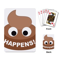 Poo Happens Playing Card by Vitalitee