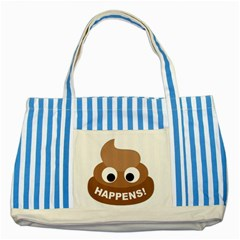 Poo Happens Striped Blue Tote Bag