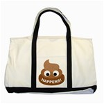 Poo Happens Two Tone Tote Bag Front