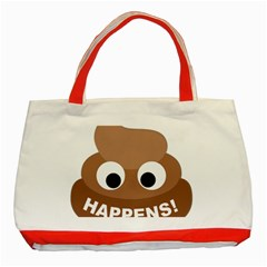 Poo Happens Classic Tote Bag (red) by Vitalitee