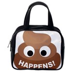 Poo Happens Classic Handbags (One Side) Front