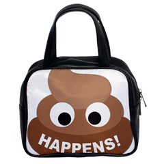 Poo Happens Classic Handbags (2 Sides) by Vitalitee