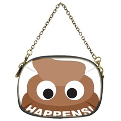 Poo Happens Chain Purses (two Sides)