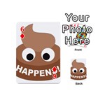 Poo Happens Playing Cards 54 (Mini)  Front - Diamond6