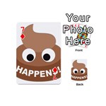 Poo Happens Playing Cards 54 (Mini)  Front - Diamond7