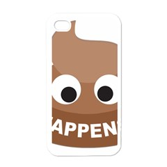 Poo Happens Apple Iphone 4 Case (white)