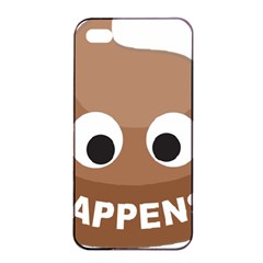 Poo Happens Apple Iphone 4/4s Seamless Case (black) by Vitalitee