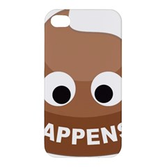 Poo Happens Apple Iphone 4/4s Premium Hardshell Case by Vitalitee