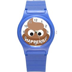 Poo Happens Round Plastic Sport Watch (s) by Vitalitee