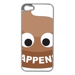 Poo Happens Apple Iphone 5 Case (silver)
