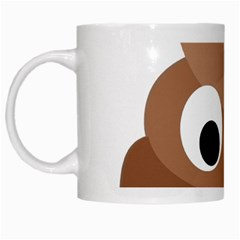 Poo Happens White Mugs