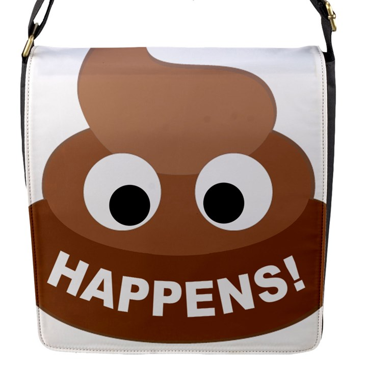 Poo Happens Flap Messenger Bag (S)