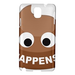Poo Happens Samsung Galaxy Note 3 N9005 Hardshell Case by Vitalitee