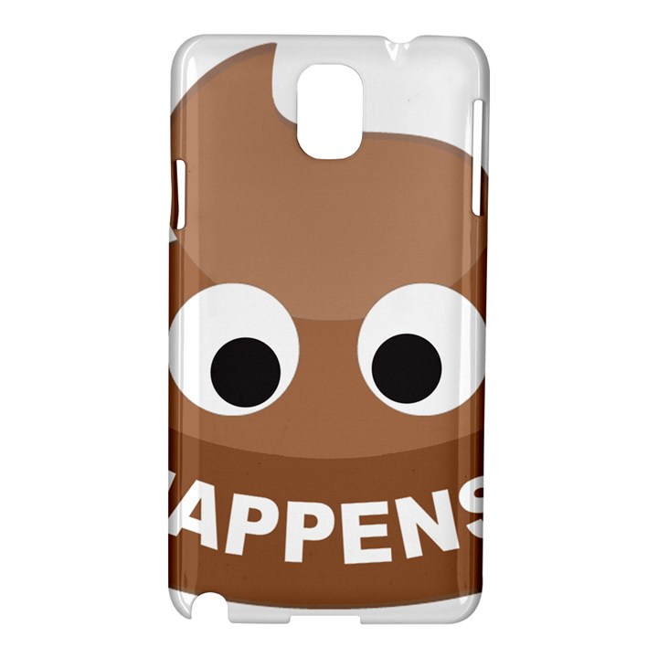 Poo Happens Samsung Galaxy Note 3 N9005 Hardshell Case