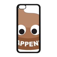 Poo Happens Apple Iphone 5c Seamless Case (black) by Vitalitee