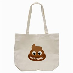 Poo Happens Tote Bag (cream) by Vitalitee