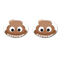 Poo Happens Cufflinks (oval) by Vitalitee