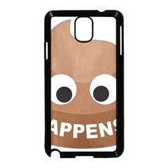 Poo Happens Samsung Galaxy Note 3 Neo Hardshell Case (black) by Vitalitee