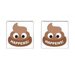 Poo Happens Cufflinks (square)