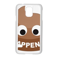 Poo Happens Samsung Galaxy S5 Case (white) by Vitalitee