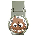 Poo Happens Money Clip Watches Front