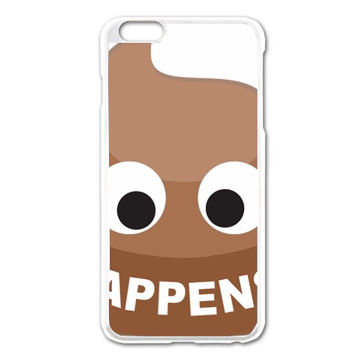 Poo Happens Apple iPhone 6 Plus/6S Plus Enamel White Case