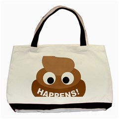 Poo Happens Basic Tote Bag (two Sides)