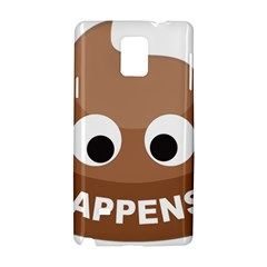 Poo Happens Samsung Galaxy Note 4 Hardshell Case by Vitalitee