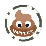 Poo Happens Poker Chip Card Guard Front
