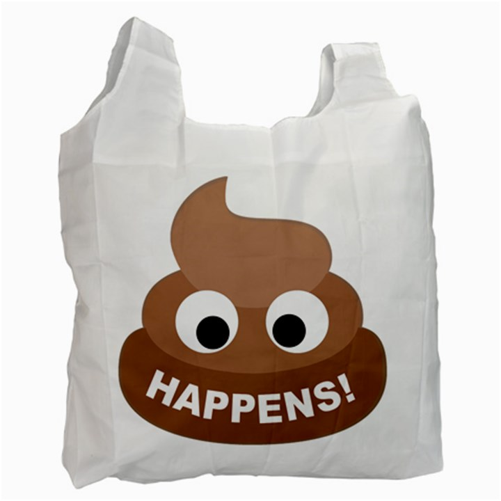 Poo Happens Recycle Bag (One Side)