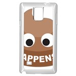Poo Happens Samsung Galaxy Note 4 Case (White) Front