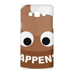 Poo Happens Samsung Galaxy A5 Hardshell Case