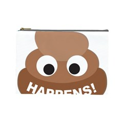 Poo Happens Cosmetic Bag (large)  by Vitalitee