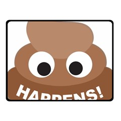 Poo Happens Fleece Blanket (small)