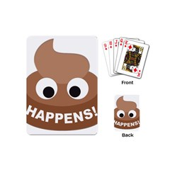 Poo Happens Playing Cards (mini)  by Vitalitee