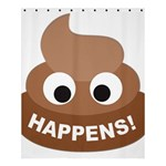 Poo Happens Shower Curtain 60  x 72  (Medium)  54.25 x65.71 Curtain