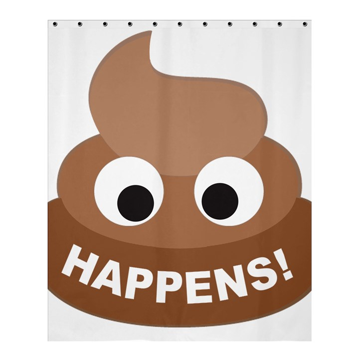 Poo Happens Shower Curtain 60  x 72  (Medium)