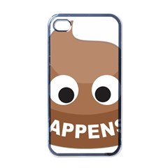 Poo Happens Apple Iphone 4 Case (black)