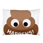 Poo Happens Pillow Case (Two Sides) Back