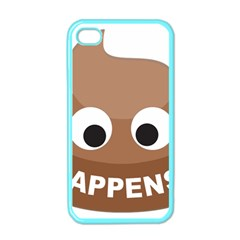 Poo Happens Apple Iphone 4 Case (color)