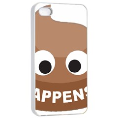 Poo Happens Apple Iphone 4/4s Seamless Case (white)