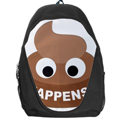 Poo Happens Backpack Bag by Vitalitee