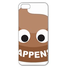 Poo Happens Apple Seamless Iphone 5 Case (clear) by Vitalitee