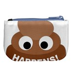 Poo Happens Large Coin Purse Back