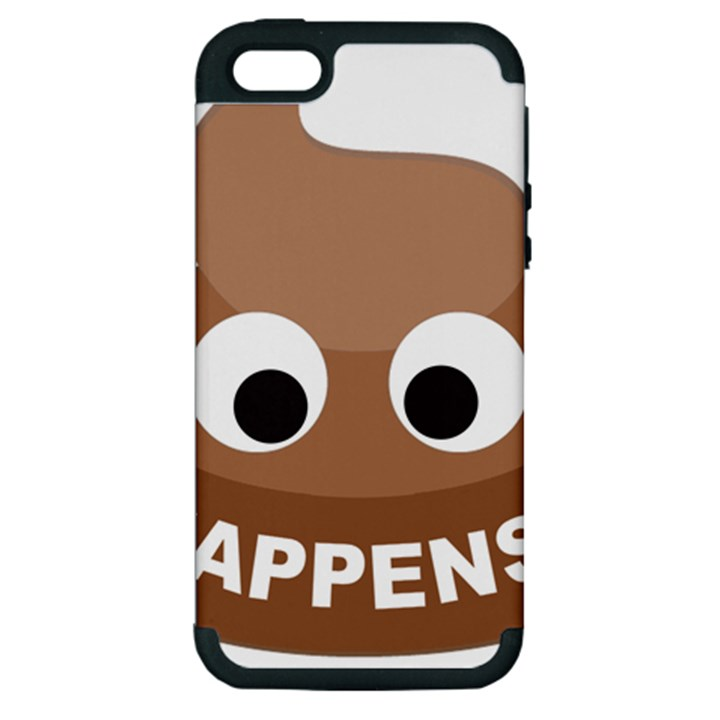 Poo Happens Apple iPhone 5 Hardshell Case (PC+Silicone)