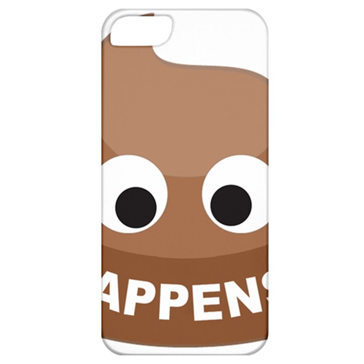 Poo Happens Apple iPhone 5 Classic Hardshell Case