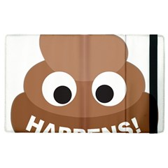 Poo Happens Apple Ipad 2 Flip Case by Vitalitee