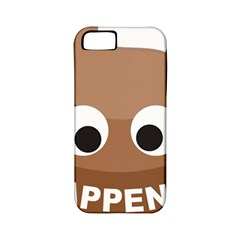 Poo Happens Apple Iphone 5 Classic Hardshell Case (pc+silicone) by Vitalitee