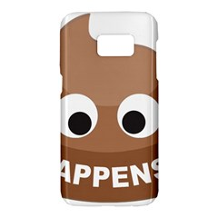 Poo Happens Samsung Galaxy S7 Hardshell Case  by Vitalitee