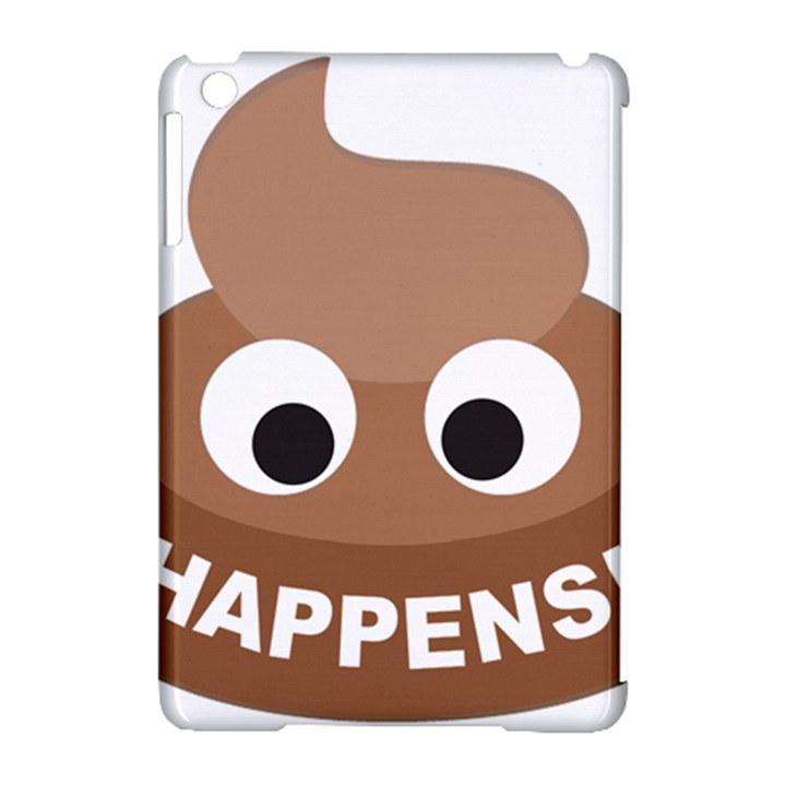Poo Happens Apple iPad Mini Hardshell Case (Compatible with Smart Cover)